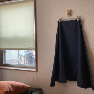 マディソンブルー(MADISONBLUE)のマディソンブルーネイビーフレアスカート MADISON BLUE(ロングスカート)