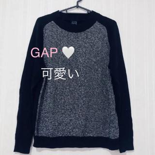 ギャップ(GAP)のギャップ ニット 黒 ブラック 長袖 クルーネック 暖かい 新品未使用(ニット/セーター)