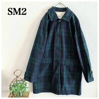 サマンサモスモス(SM2)のSM2  サマンサモスモス ステンカラーコート チェック 緑 M(その他)