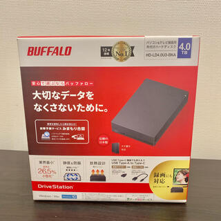 Buffalo - 外付けHDD 4TB バッファロー パソコン&テレビ録画用