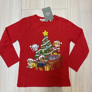 エイチアンドエム(H&M)の100-110㎝❤️最新作!パウパトロールロンT♡パウパト クリスマス(Tシャツ/カットソー)