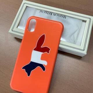 メゾンキツネ(MAISON KITSUNE')のメゾンキツネ IPHONE CASE TRICOLOR FOX(iPhoneケース)