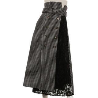Lily Brown - リリーブラウン 異素材切り替えスカート