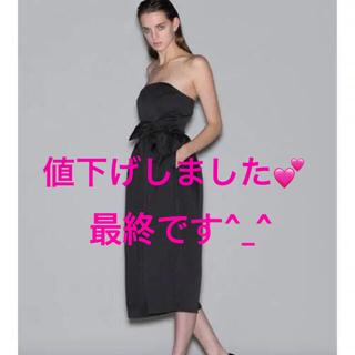 ラグナムーン(LagunaMoon)の【LAGUNAMOON】ラグナムーン 黒ドレス ガウチョ パーティー オールイン(ミディアムドレス)