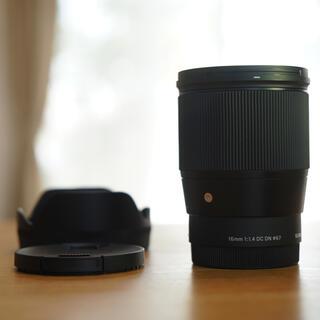 シグマ(SIGMA)のSIGMA 16mm f1.4 美品 使用数回 Eマウント(レンズ(単焦点))