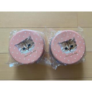ユニクロ(UNIQLO)のユニクロ ポール&ジョー ノベルティ 猫 ラムネ缶 ピンク 2個セット(小物入れ)