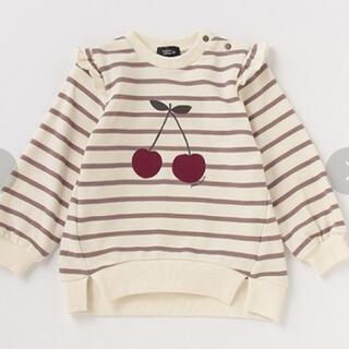 プティマイン(petit main)のpetit main オーガニックコットン チェリー裏毛トレーナー(Tシャツ/カットソー)