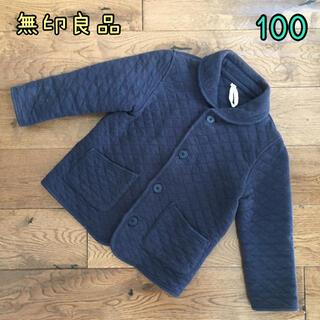 ムジルシリョウヒン(MUJI (無印良品))の無印良品 キルトジャケット ネイビー 100(ジャケット/上着)