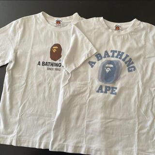 アベイシングエイプ(A BATHING APE)のエイプ ベイプ ape bape Tシャツ(Tシャツ/カットソー)