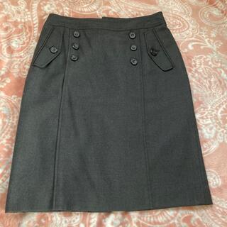 ビームス(BEAMS)の美品 タイトスカート 濃グレー 40(ひざ丈スカート)