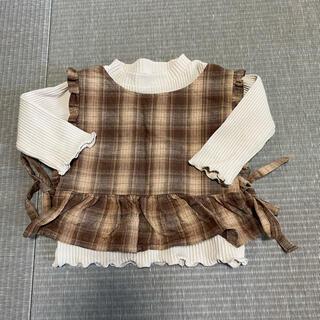 フタフタ(futafuta)のバースデー トップス、ベスト2点セット 80センチ(Tシャツ)