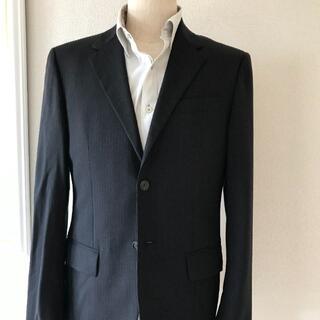 PRADA - 綺麗プラダのヴァージンウールスーツ2B黒ピンストノータック