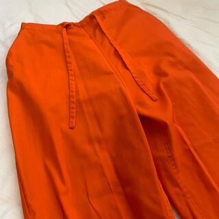 COMOLI - orange 90s pants 囚人服