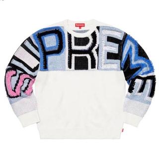 Supreme - Supreme21fw Chenille Logo Sweater Lサイズ