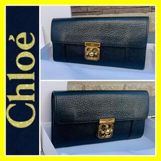 Chloe - エルシー■箱あり■高島屋購入■本革■Chloe クロエ 財布 ブラック ゴールド