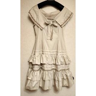 ヴィクトリアンメイデン(Victorian maiden)のVictorian maiden ショルダーケープ付きティアードフリルワンピース(ひざ丈ワンピース)