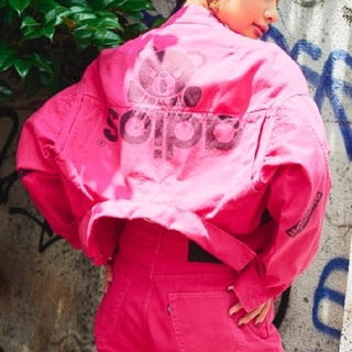ヒステリックグラマー(HYSTERIC GLAMOUR)の★新品タグ付き★HYSTERIC GLAMOUR ジャケット ピンク Free(Gジャン/デニムジャケット)