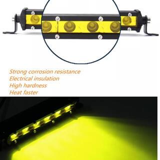 2本 LED ライトバー 作業灯 フォグランプ イエロー ワークライト ジムニー