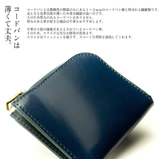 GANZO - GANZO fico 新品 馬革 ミニ財布 Cordovan コードバン 薄型