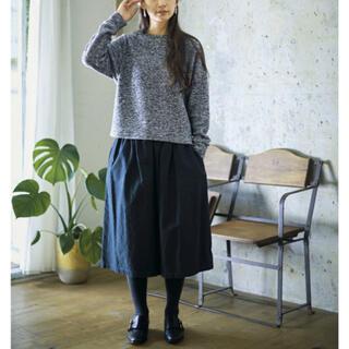 フェリシモ(FELISSIMO)のサニークラウズ 黒スカート NMサイズ(ロングスカート)