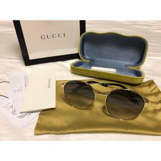 Gucci - 即完売品 GUCCI ラウンドフレーム メタル サングラス アジアンフィット