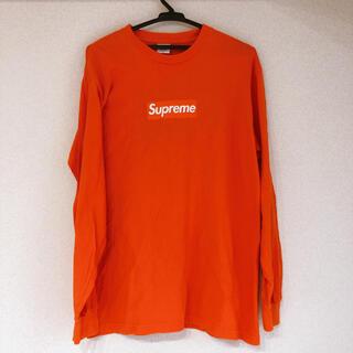 Supreme - supreme オレンジロンT ボックスロゴ