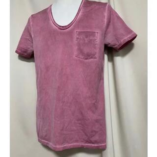 5351 POUR LES HOMMES - 5351POUR LES HOMMES 顔料コーティングTシャツ ピンク 2 M