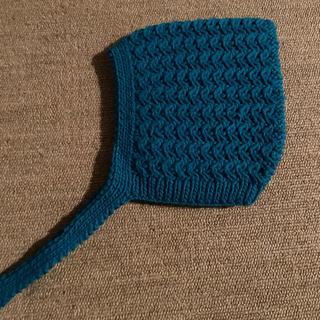 コドモビームス(こども ビームス)のbieq ボンネット ニット帽 ブルー (帽子)