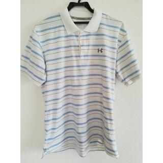 アンダーアーマー(UNDER ARMOUR)のアンダーアーマー ポロシャツ シャツ 半袖 ボーダー メンズ (ウエア)