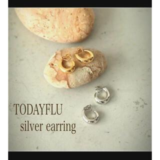 TODAYFUL - TODAY FLU silver foop earring