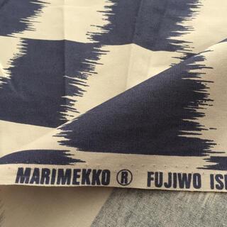 マリメッコ(marimekko)のMARIMEKKO マリメッコ 生地 FUJIWO ISHIMOTO ネイビー(生地/糸)