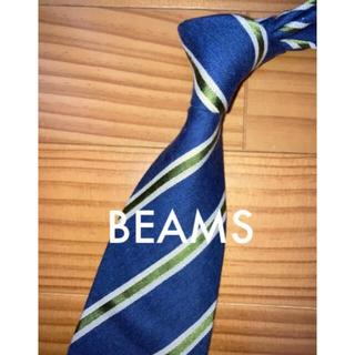 ビームス(BEAMS)の美品 ビームス ナチュラルブルーストライプ 剣先芯なし(ネクタイ)
