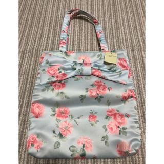ローラアシュレイ(LAURA ASHLEY)の新品タグ付 ローラアシュレイ  トートバッグ お花柄 リボントート♪ 未使用(トートバッグ)