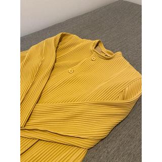 HOMME PLISSE ISSEY MIYAKE 黄色 ジャケットオムプリッセ