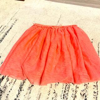 エイチアンドエム(H&M)のH&M ピンクラメチュールスカート サイズ122/128(スカート)