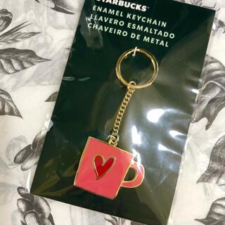 Starbucks Coffee - スターバックス メキシコ限定 ハート マグカップ キーホルダー ピンク