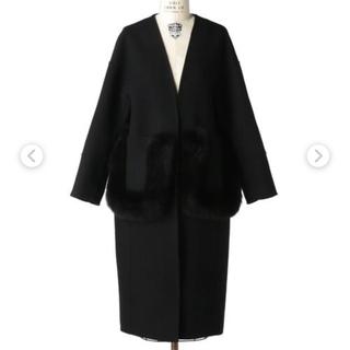 Drawer - ドゥロワー  ケヌキファーポケットコート ブラック 34