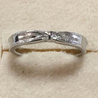 海外 シルバー プチ リボン リング 12号(リング(指輪))