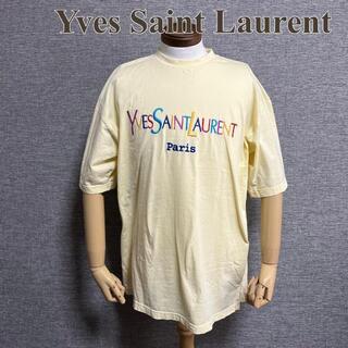 Saint Laurent - イヴサンローラン Tシャツ マルチカラーロゴ イエロー XL