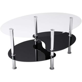 オーエスジェイ センターテーブル 魚形 クリア&ブラック (ローテーブル)
