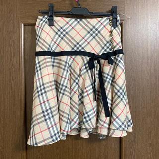 バーバリーブルーレーベル(BURBERRY BLUE LABEL)のバーバリーブルーレーベルスカートベージュ38(ひざ丈スカート)