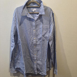 ギャップ(GAP)の【美品】GAP ギャップ ストライプシャツ  襟付きブラウス  長袖(シャツ/ブラウス(長袖/七分))