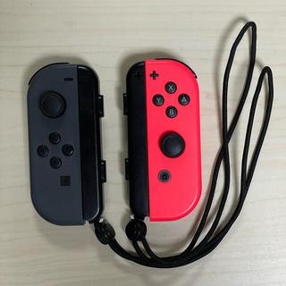 Nintendo Switch - Nintendo Switch Joy-Conセット グレー ネオンレッド
