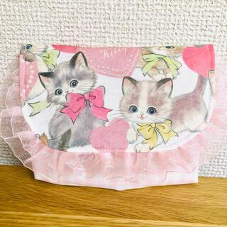 【赤リボン猫・黄色リボン猫】 移動ポケット 女の子(外出用品)