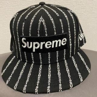 シュプリーム(Supreme)のsupreme 19SS text stripe New Era シュプリーム(キャップ)