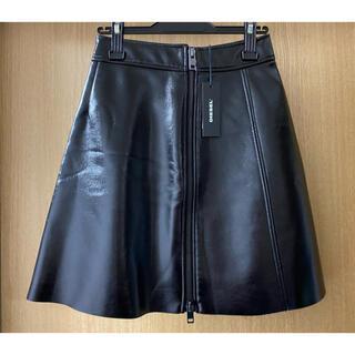 ディーゼル(DIESEL)の★新品★DIESEL 合皮・黒・ミニスカート(ミニスカート)