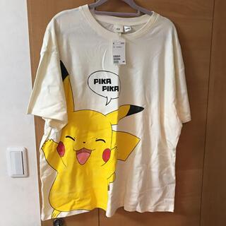 エイチアンドエム(H&M)のピカチュウ Tシャツ イエロー(Tシャツ(半袖/袖なし))