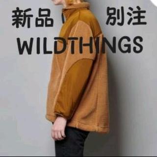 ワイルドシングス(WILDTHINGS)の新品 タグ付き  WILD THINGS 別注ミリタリーボアフリースブルゾン(ブルゾン)