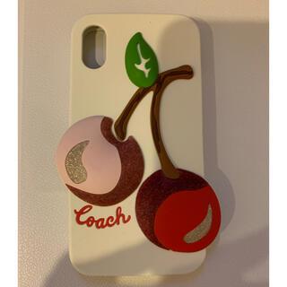 コーチ(COACH)のCOACH コーチ iPhone X XS ケース チェリー スマホケース 白(iPhoneケース)