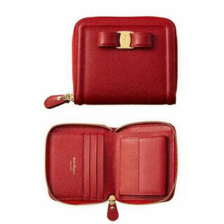 Salvatore Ferragamo - 新品 赤 ヴァラリボン 折りたたみ財布